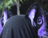 purple large kitten ears