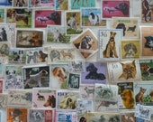 Dogs - Lot of Worldwide Postage Stamps With Dogs -  for Collecting, Decoupage, Paper Crafts, Collage and More...