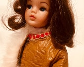 1970s Fashion Doll Afghan Coat, Vintage Dolls Clothes, Sindy, Barbie, Maddie Mod
