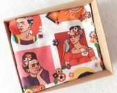Frida Kahlo Pocket Square / Frida Accessories for Men / Mexican Style Pocket Square / Frida Handkerchierf / Frida Hanky / Day of the Dead