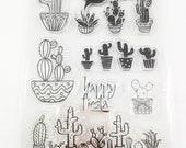 7 Silikonstempel Kaktus Happy Fiesta sprechende Kakteen lustig stempel Kartengestaltung