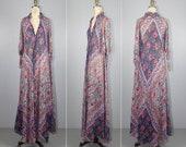 R E S E R V E D Adini   1970s dress   india gauze   bohemian   vintage dress   hippie dress   cotton   maxi dress   caftan