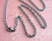 """RESERVED for Lori .. 32"""" stainless steel necklace with lobster clasp"""