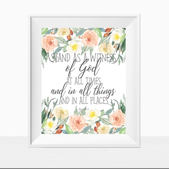 Printable Wall Art, LDS Art, LDS Printables, Stand As A Witness ...