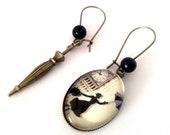 Asymmetrical Earrings: Mary Poppins