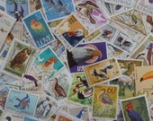 Birds -  Lot of 100 U.S. and Worldwide  Postage Stamps with Birds for Art Projects, Decoupage, Paper Crafts, Collage and More...
