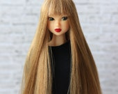 Light Brown Wig for J-doll, Momoko, Obitsu 3.5-4 inch