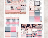School Life August Monthly View Planner Kit | ~200 Stickers | Planner Stickers | For Erin Condren LifePlanner