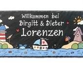 Schiefer Namensschild Türschild Maritim XXL