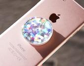 Holograficzny Opal, kamień, Rainbow Crystal Unicorn opalizujący blask kalkomania/naklejka na popsockets, do selfie uchwyt, na telefon Grip