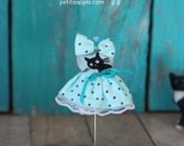 PETITE Blythe doll dress with hair or neck bow