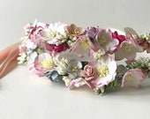 Spring Crush Crown, Flower Crown, Festival Crown, Flower headband, flower wreath, flower girl hair, Bridesmaid Flowers, Bridal wreath, Roses
