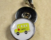 School Bus Snap Charm, School Bus Button Charm, School Bus Gifts, Teacher Gifts, Principal Gifts, Gifts for Teachers, Bus Driver Gifts