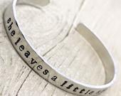 Inspirational Friendship Bracelet, Womens Bracelet, Best Friend Gift, Teacher Gift, Gift for Her, Cuff Bracelet, Mantra Bracelet by Kyleemae
