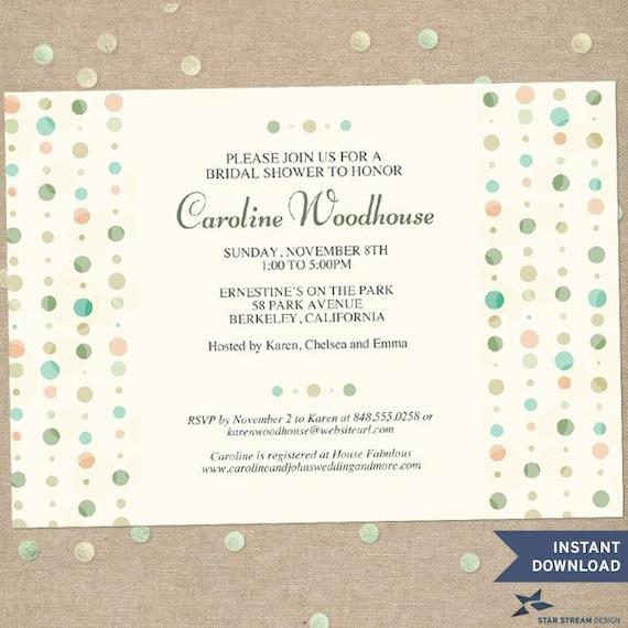 polka dot party invitation template