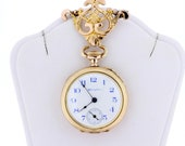 Goldfilled Hampden Pocket Watch with Matching Lapel Pin