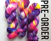 PRE ORDER Hand dyed yarn If I want exposure I'll get my tits out, Manners Please edition in BFL bamboo 4ply weight 100g British Farmed uk