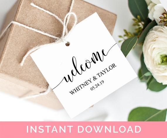 welcome tags printable rustic wedding gift tags wedding welcome
