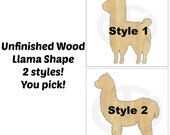 Llama, Unfinished Wood Laser Cutout, Wreath Accent, Ready to Paint and Personalize, Various Sizes