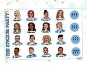READ DESCRIPTION! Bb20 Cast Doodles Big Brother Us Tv Show Planner Stickers #Bb20
