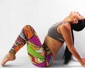 African Leggings, Tribal, Abstract, Geometric, Ankara, Wax, Pattern, Women Leggings, Yoga, Yoga Pants, Clothing, Gift for Her