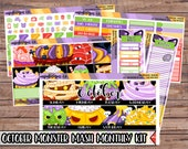 October Monster Mash Monthly Kit | Autumn Planner Stickers | ECLP | Happy Planner | Recollections Planner | Monthly Planner Stickers
