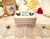 Minnie And Mickey Inspired Luxury Wedding Ring Box / Happily Ever After Double Ring Box / Engagement / Proposal / Mouse Wedding Theme