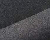 Bündchenstoff Bündchen dunkelgrau grau Stoff meliert Feinripp