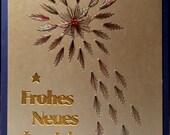 Fadengrafik Karte Silvester Neujahr Feuerwerk 04