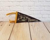 Vintage Tennessee Felt Souvenir Mini Pennant