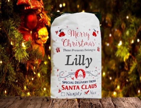 Santa sacks personalized santa sack gift sack christmas bags