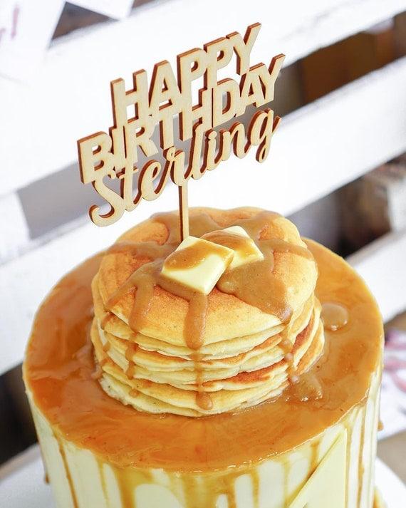 Custom Happy Birthday Cake Topper, Personalized Birthday Cake Topper ...