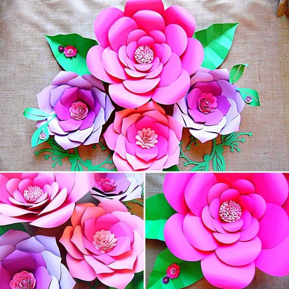 Flower template paper flowers giant paper flowers large paper il570xn mightylinksfo