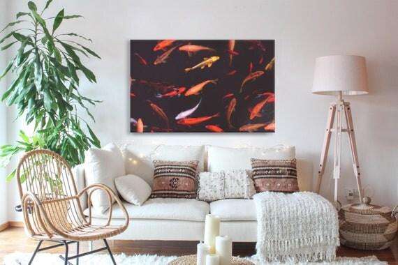 Koi Fish Wall Art, Koi Photography Canvas, Asian Wall Art, Wall ...