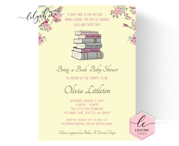 Book baby shower invitation storybook baby shower invitation il570xn filmwisefo