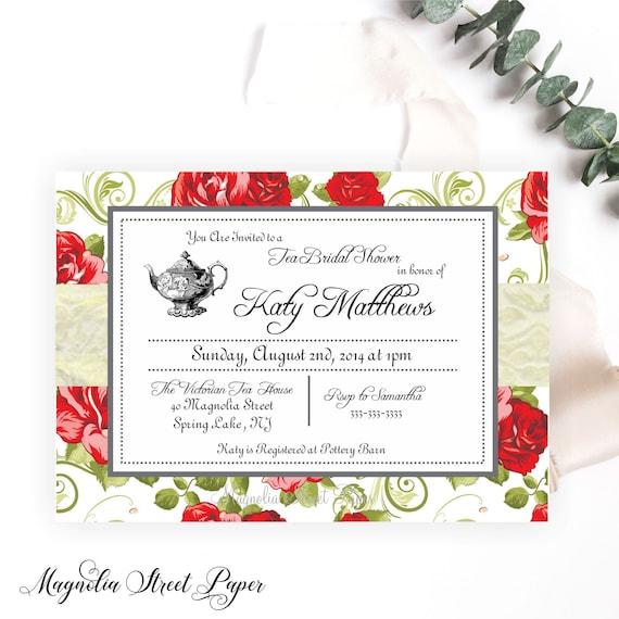 High tea bridal shower invitations bridal tea party invite kitchen il570xn filmwisefo