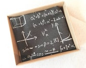 Maths Pocket Square - Maths Teacher Gift - Mathematician Gifts - Equations Hanky - Formulas Pocket Square - Gift from Student - Mathematical