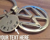 Volkswagen Custom Key Chain. VW Bus Bug. Volkswagen, Volkswear, Chrome, Silver, Gold, Customize