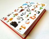 Notepad memo, the alphabet animals