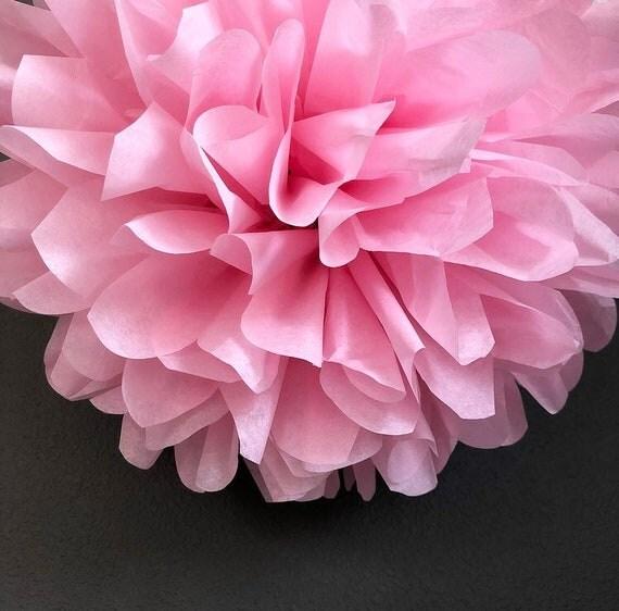 LIGHT PINK tissue paper pompom blush pink decorations wedding bridal ...