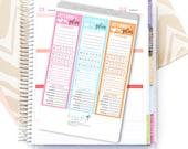 Weekly Plan Sidebar Planner Sticker   Weekly Trackers for Erin Condren Planner Sticker / Plan Tracking Sticker / Side Bar Tracker