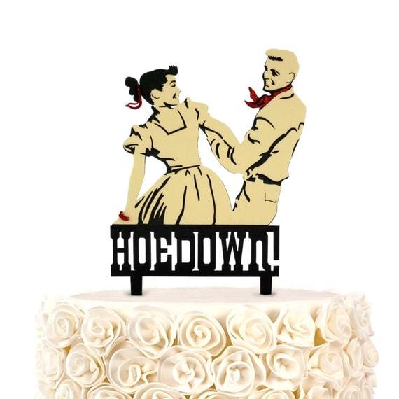 Cake Topper Cowboy Hoe down vintage personalized custom Glitter ...