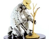 1976 Franklin Mint  Johnny Appleseed Gold on Silver Statue