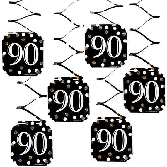 90th Birthday Hanging Decorations