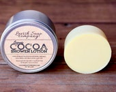 100% Pure Organic Solid Cocoa Shower Lotion bar   Raw butter   No chemicals   Natural scent   Psoriasis   Eczema   Body butter shower lotion