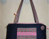 Joli petit sac à main zippé : le Rosally en jean recyclé