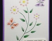 Fadengrafik Grußkarte 290 Schmetterling
