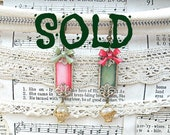 SOLD..dainty basket assemblage earrings upcycled vintage jewelry mismatched repurposed vintage pins cottage chic