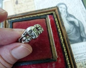 ON HOLD:  Antique Memento Mori Skull & Snakes Ring, A Talisman for the Passionate Woman, offered by RusticGypsyCreations