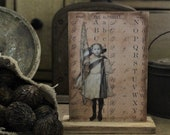 Mercantile Board~ Double Sided Alphabet and  Little Girl
